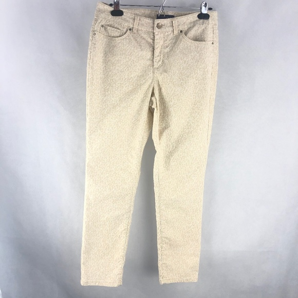 Charter Club Denim - Charter Club Skinny Ankle Tan White Denim Jeans 8